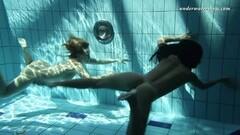 Sexy Silvie and Zhanetta underwater naked babes Thumb