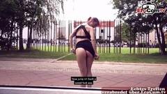 Naughty German skinny teen babe public Pickup Thumb