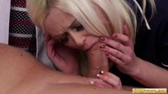 Kinky Cock hungry nurse babes share blowjob Thumb