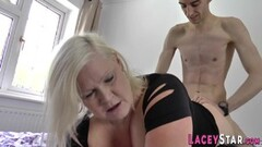 Kinky Titfucking british granny gets anally plowed Thumb