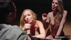 Deeper. Kayden Kross and Jillian Janson Plays Games as he Watches Thumb