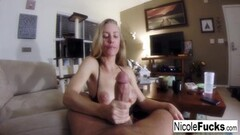 Sexy blonde bitch likes sucking cock and eating cum Thumb