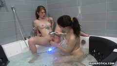 Sweet Solo Lesbian, Cinderella Meets up With Rina Ray, in 4 Thumb