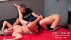 Steamy Housewives Licking and Fingering Pussy in Threesome Thumb
