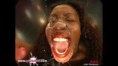 Kinky Black Babe Bernadette Bukkake Gangbang German Goo Girls Thumb