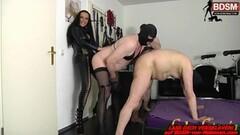 Naughty German BDSM fetish bisexual anal strapon session Thumb