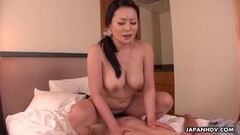Asian bounces on hard cock Thumb