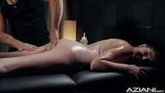 Sexy Miranda Miller enjoys massage Thumb