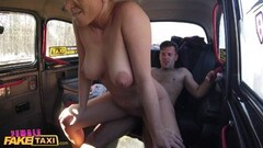 Female Fake Taxi Big breasted driver riding cock Thumb