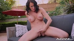Sexy Milf Reagan Foxx gets naked and has orgasm outdoor Thumb
