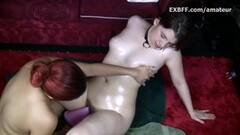 Kinky Hairy white girl wet pussy fem domination Asian lesbian Thumb