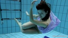 Black haired Aneta naked and underwater in the pool Thumb