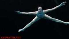 Naughty nude amateur in the dark pool Thumb
