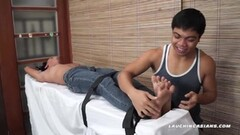 Asian Boy Simon Tied and Tickled Thumb