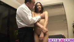 Nozomi Mashiro Asian doll gets pussy spread and masturbates Thumb