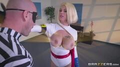 Hung thief sticks his big cock into super heroine Peta Jensen Thumb