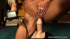Horny blonde gets fucked by the Sybian Thumb