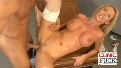 Nurse Nikki Benz fucks for the jizz Thumb