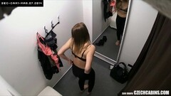 Sexy Brunette with Amazing Ass in changing room Thumb
