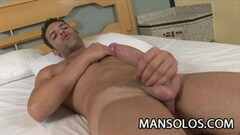 Andre Androde -Handsome Latino Jerking His Penis Thumb