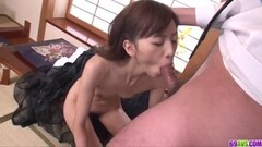 Naughty asian gobbles down this stiff cock Thumb