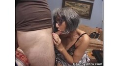 Granny stuffs her mouth with hard cock Thumb