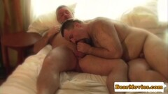 Mature leather bear Jay Ricci wanking off Thumb
