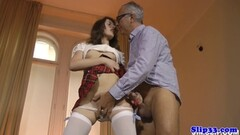 European babe beats off brit mature dude Thumb