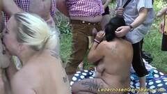 Babes enjoy outdoor orgy Thumb