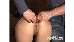 Fisting his girlfriends gaping butthole Thumb