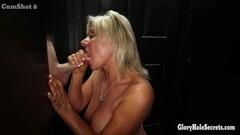 Mature blonde dick slurping at gloryholes Thumb