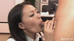 Asian brunette drools over this hard cock Thumb