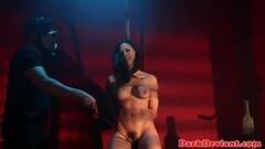 Kinky babe enjoys bdsm Thumb