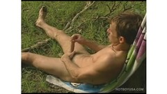 Sexy Bo Scott wanks off his dick by the river Thumb