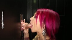Hot wife fucking with strangers in Adult Theater Thumb