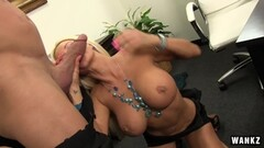 Hot blonde babe fucks fireman's big dick in her we Thumb