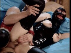 Leather fetish threesome - DBM Video Thumb
