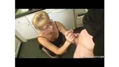 Super hot blonde short on cash-5 Thumb