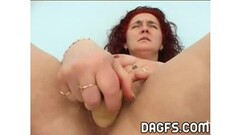 Skinny Anne Howe's first penetration in ever hole Thumb