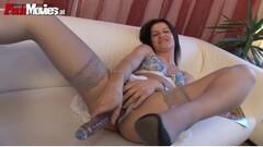 Nikki_Ferrari from Pornhublive Uses Huge Dildo Thumb