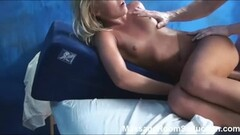 Gorgeous brunette takes big cock. Thumb