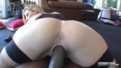 Hot Sara Jay Wrecked By BBC Lexington Steele! Thumb