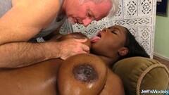 Horny Ebony BBW Olivia Leigh Oiled up n Rubbed Thumb