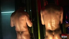 Eva, Carly And Cindy 4k BDSM Cage Cock Sucking Feat Thumb
