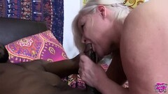GRANNYLOVESBLACK - Lacey Seduces Hung Black Handyman Thumb
