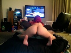Hot blonde stripping and teasing on webcam Thumb