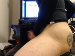 Horny ebony wife sucks bbc and rides on him Thumb