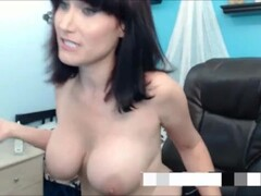 Straight action and cum on huge tits Thumb