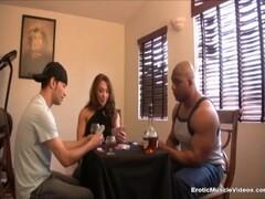 EroticMuscleVideos - Cuckold poker bet gets BrandiMae fucked by BBC Thumb