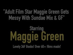 Adult Film Star Maggie Green Gets Messy With Sundae Mix & GF Thumb
